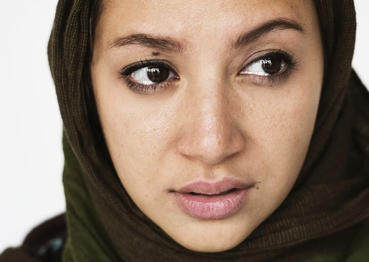 Portrait of a woman in hijab