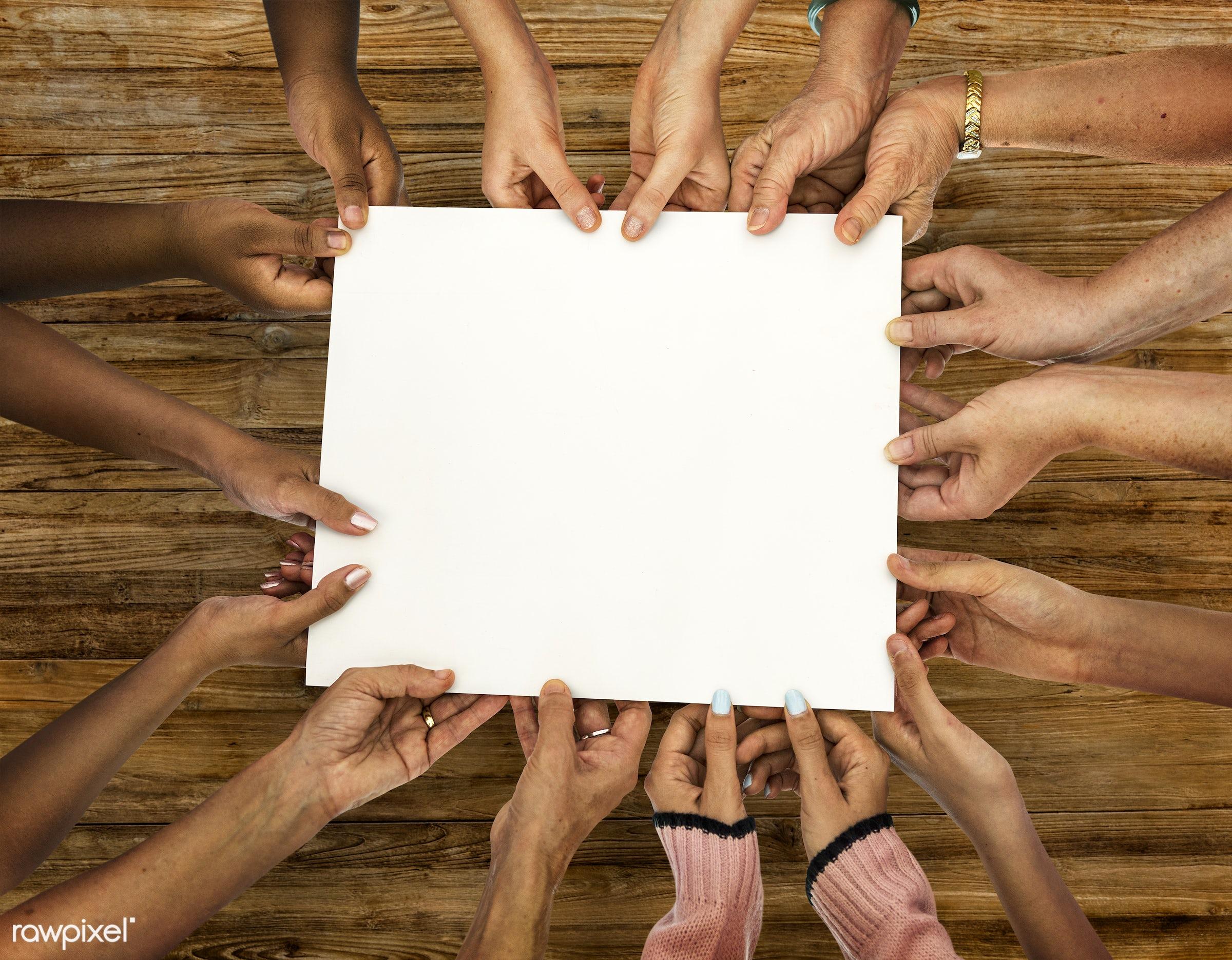 card, poster, mockup, advertisement, advertising, banner, blank, board, caucasian, closeup, copy space, diverse, diversity,...