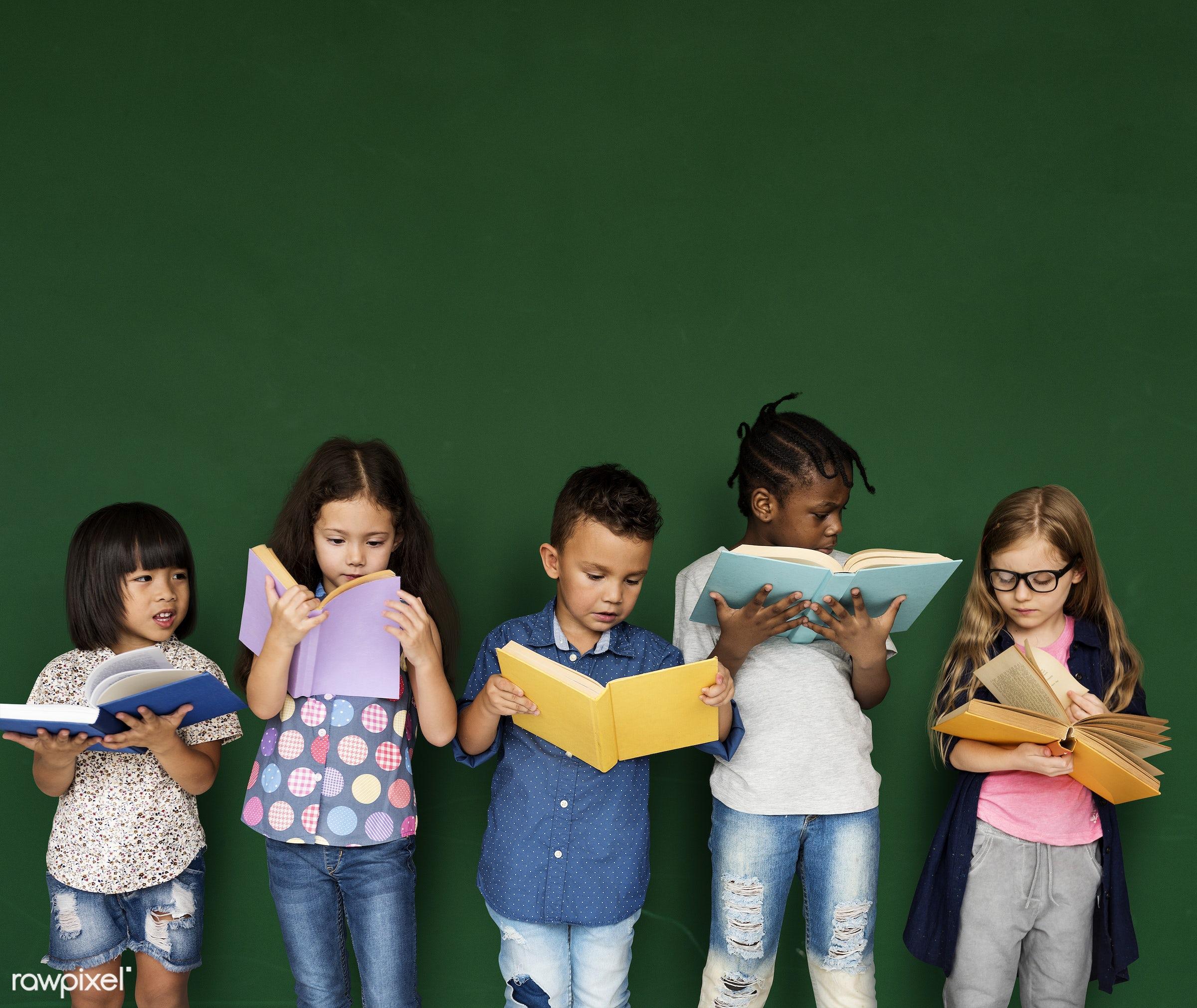blackboard, child, education, reading, adorable, book, bookworm, boy, casual, chalkboard, childhood, children, classmates,...