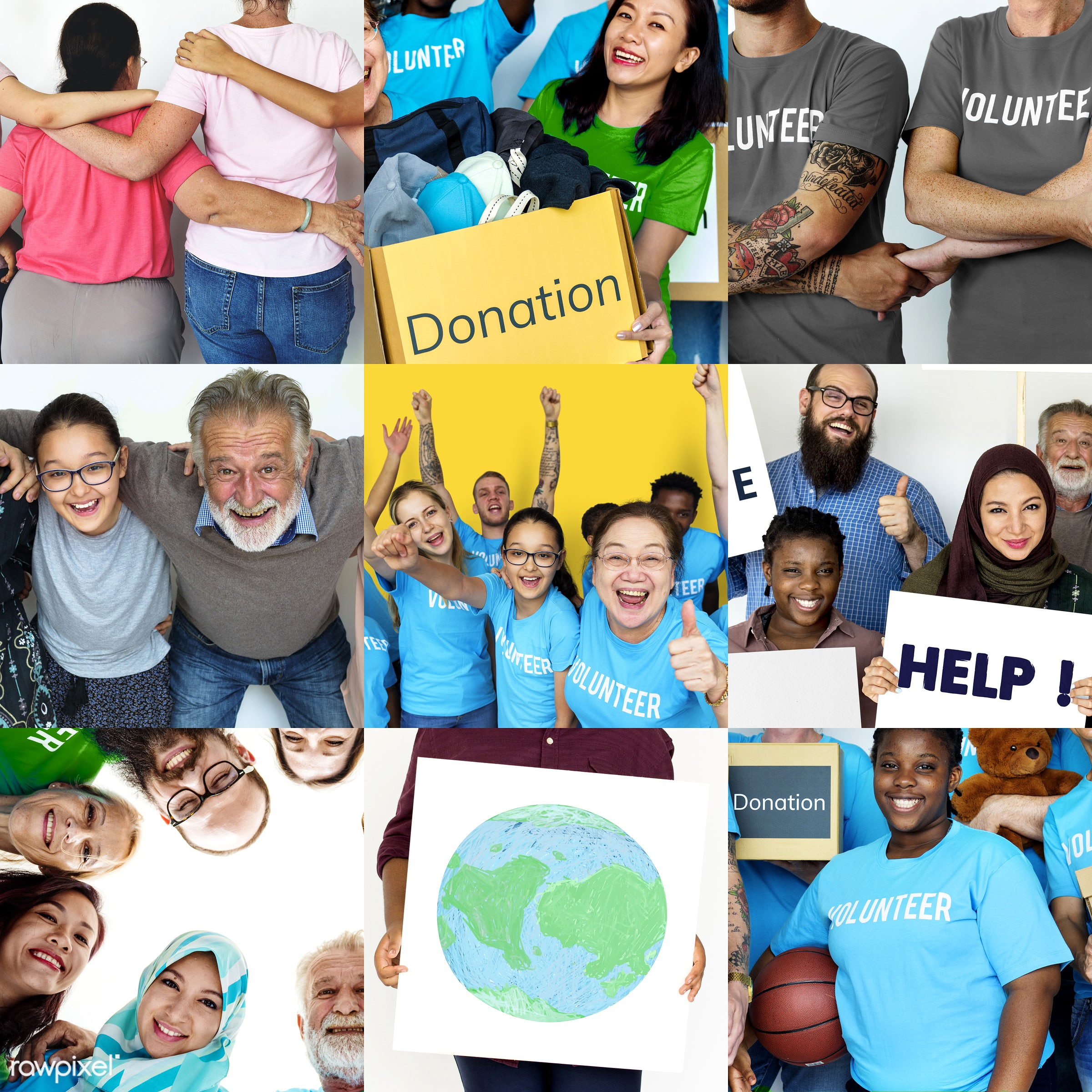 person, diverse, variation, charity, people, caucasian, asian, help, teamwork, woman, social, care, smile, voluntary,...