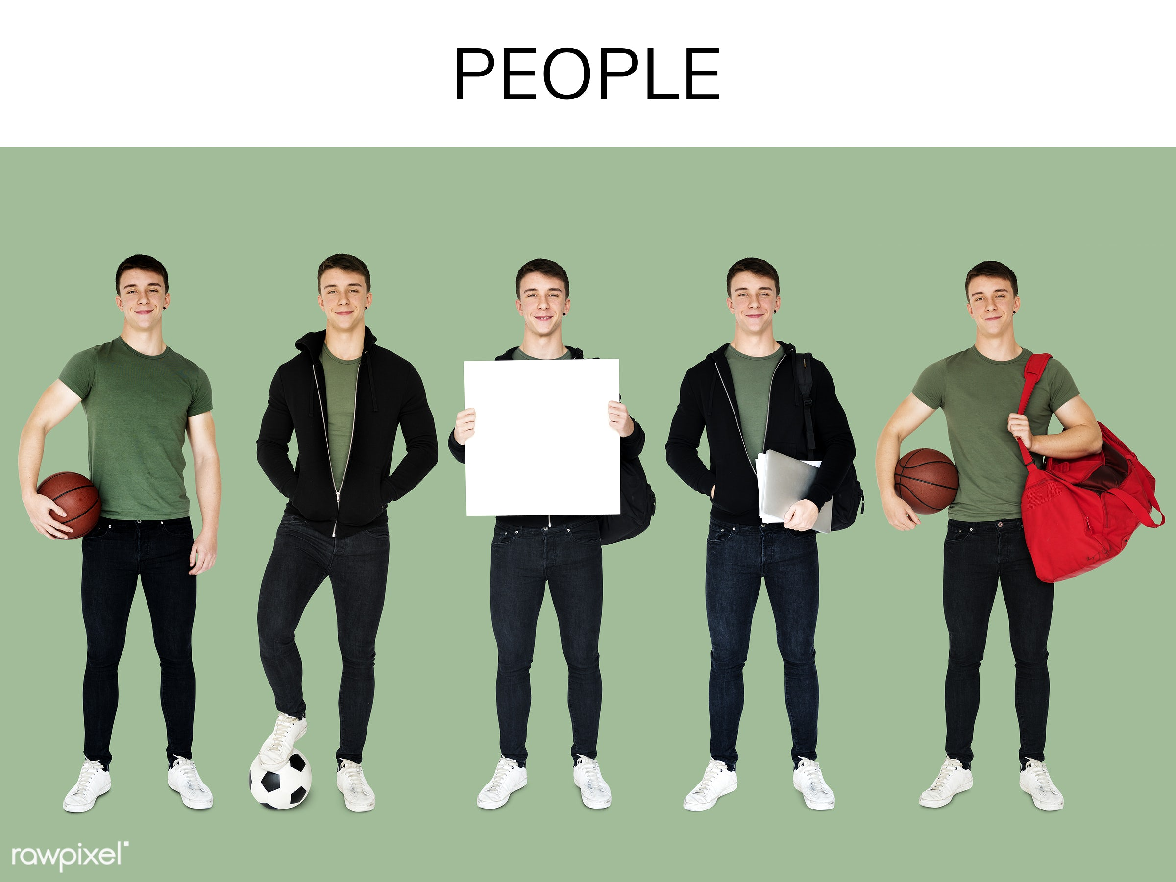 studio, basketball, person, player, diverse, set, exercise, millennials, study, collection, education, recreation, people,...
