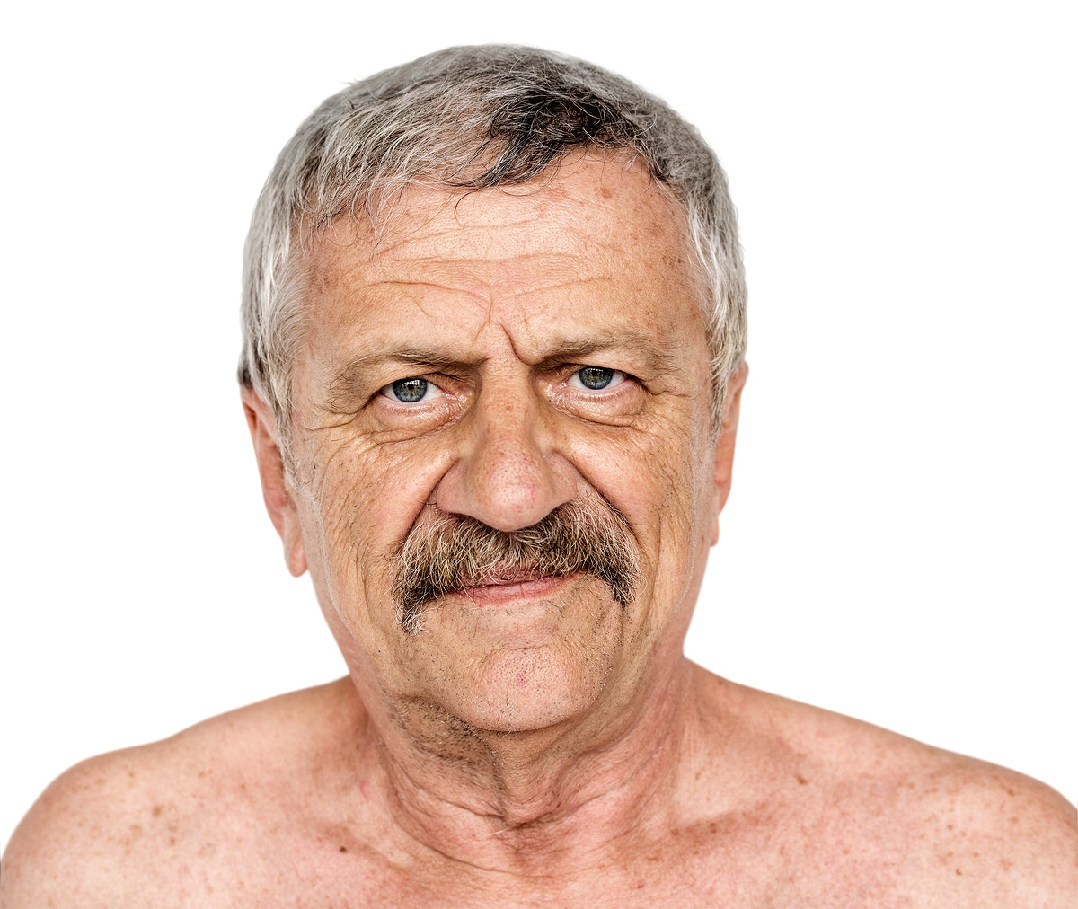 Senior adult man is in a shoot