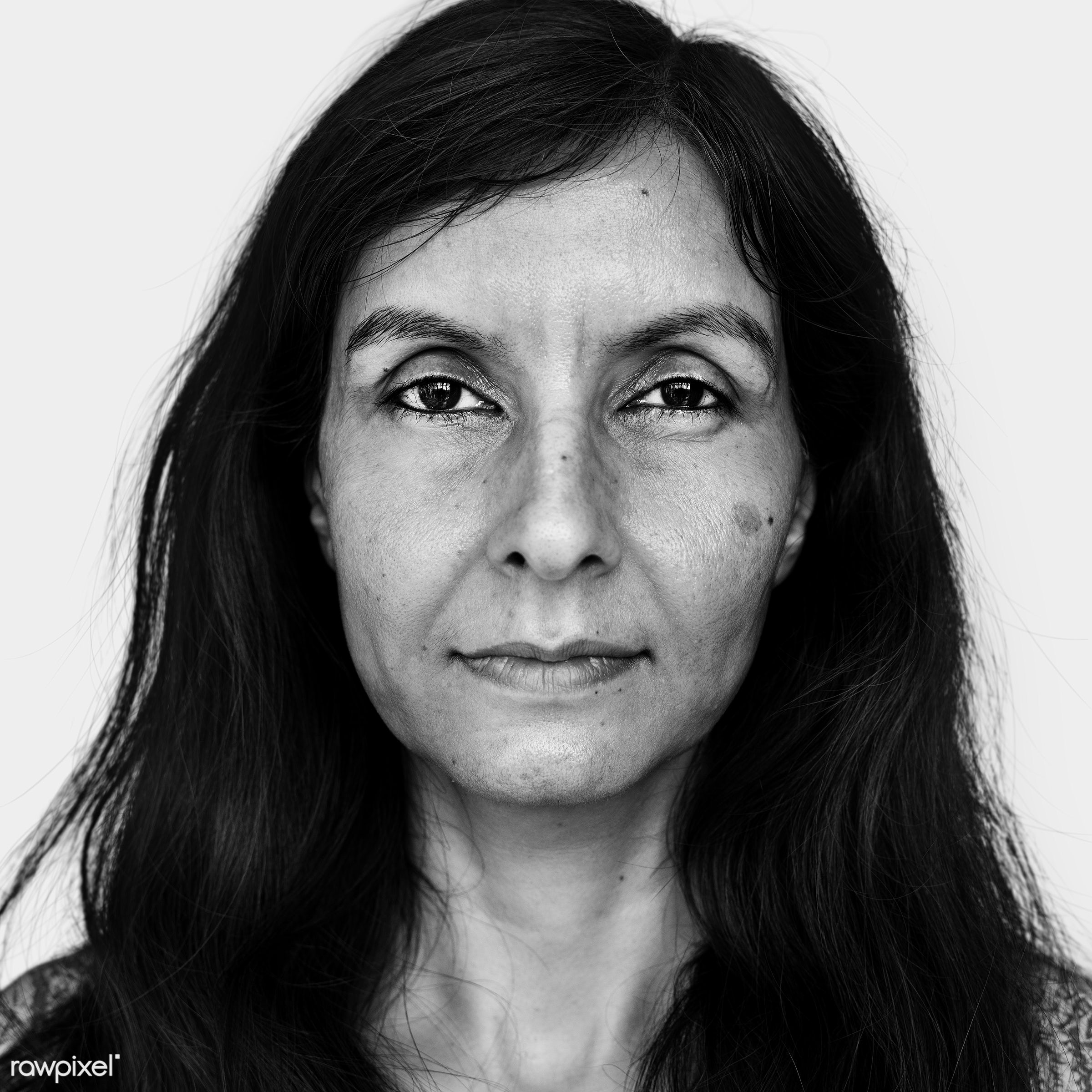 Portrait of an Indian woman - alone, asia, asian, black and white, close up, emotion, expression, face, feeling, gray scale...