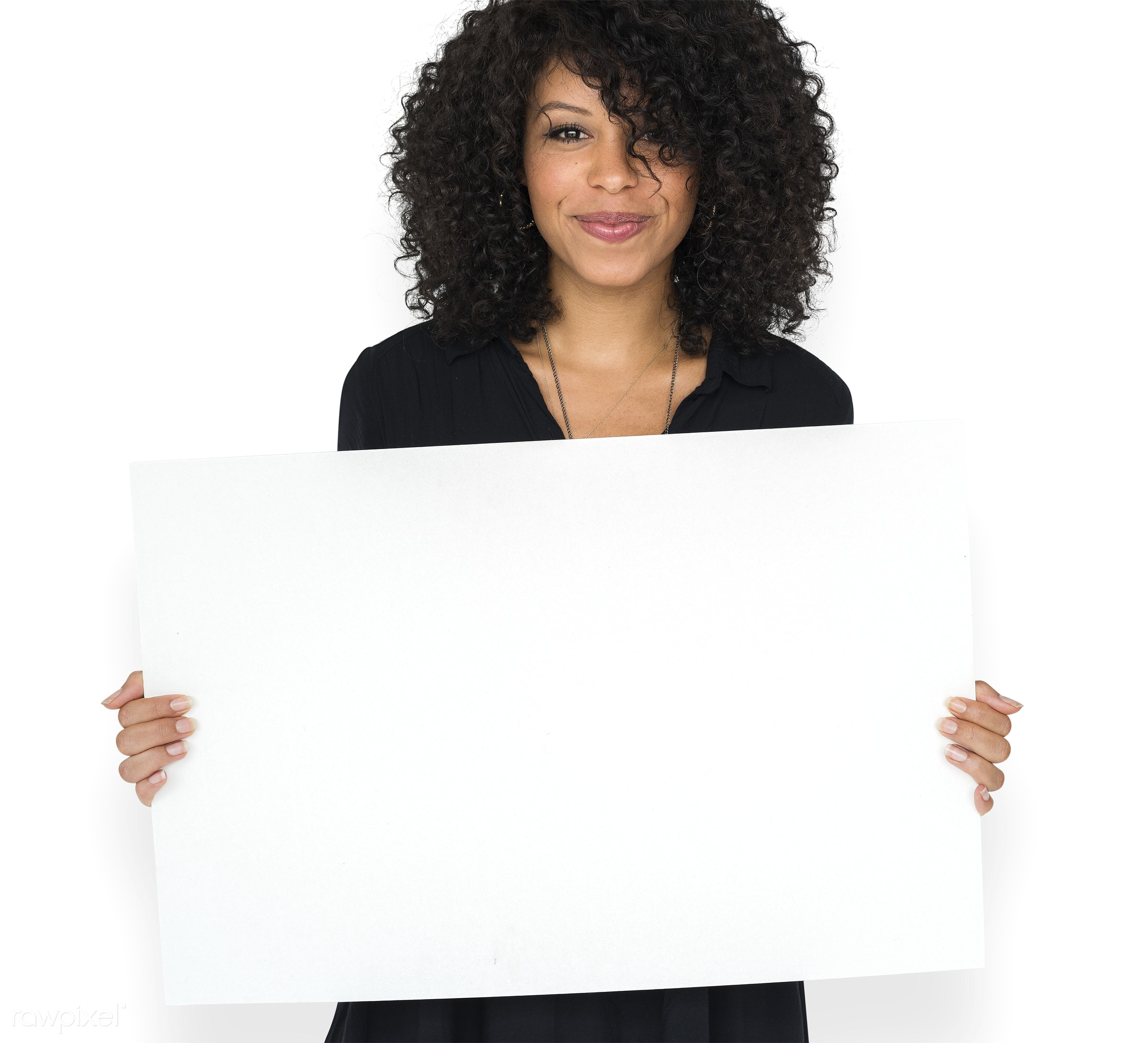 advertising, afro, background, blank, casual, cheerful, communication, copy space, empty, female, hairstyle, happiness,...
