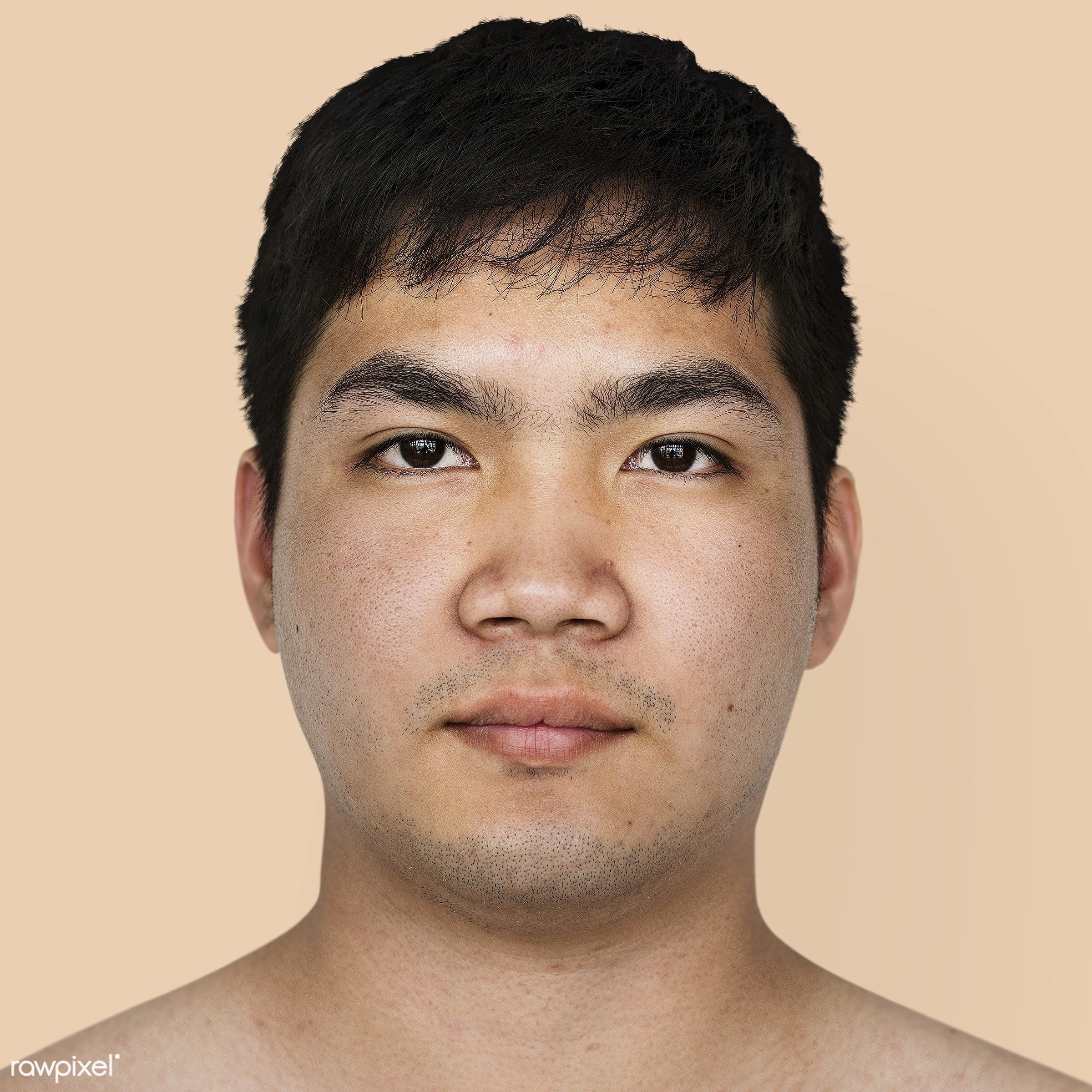 Portrait of a Thai man - asia, asian, expression, face, guy, isolated, look, looking, man, person, portrait, solo, studio,...