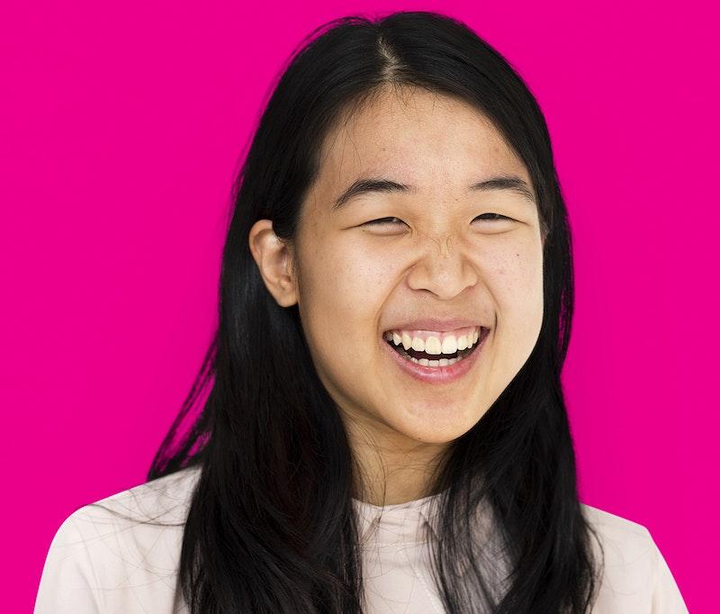 Asian girls laughing 2