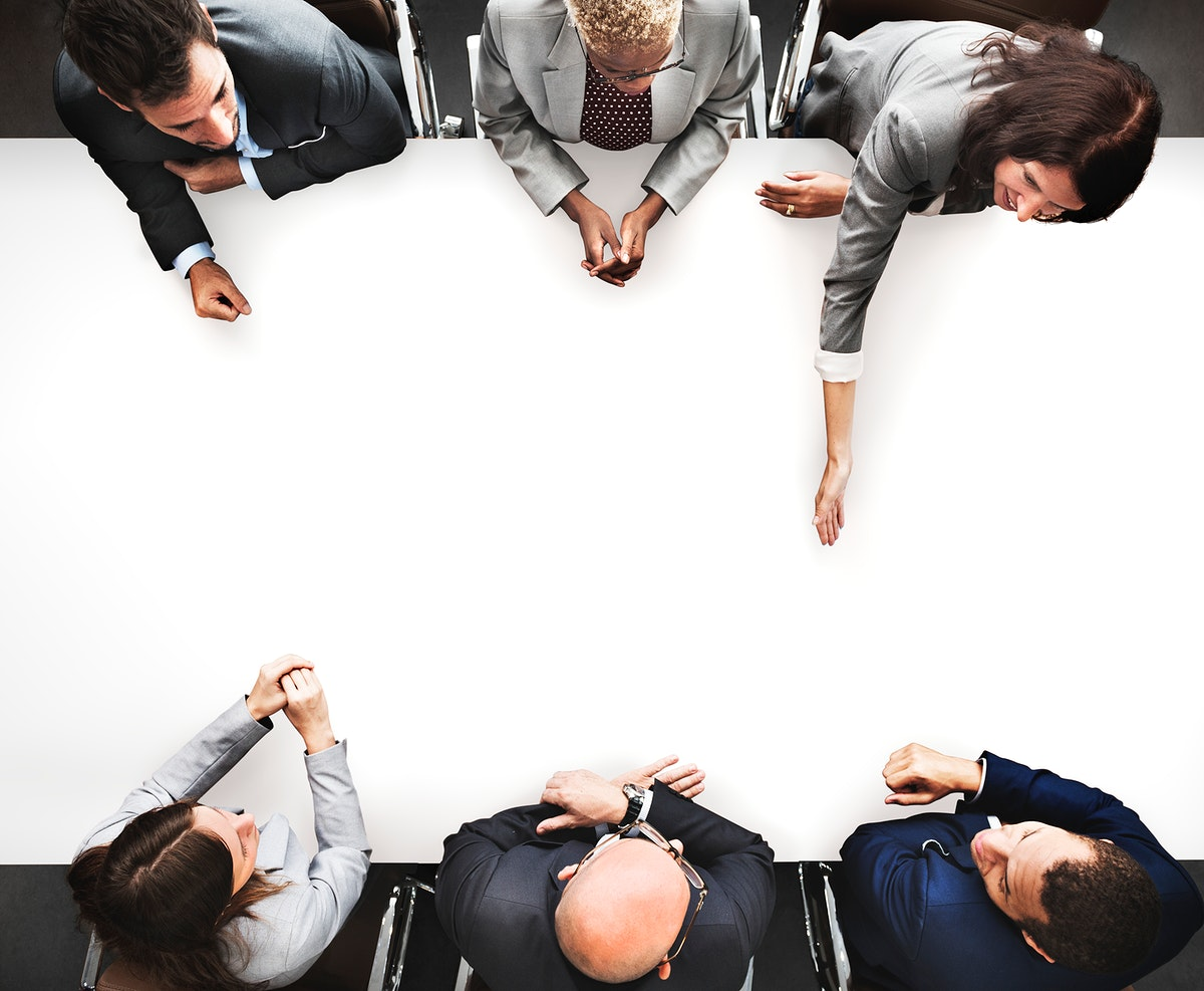 Group of diverse business people are having a meeting