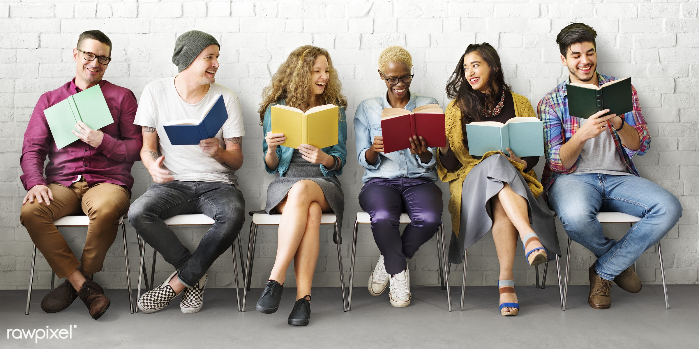african descent, book, bookworm, casual, cheerful, colleagues, college, communication, coworkers, development, diverse,...