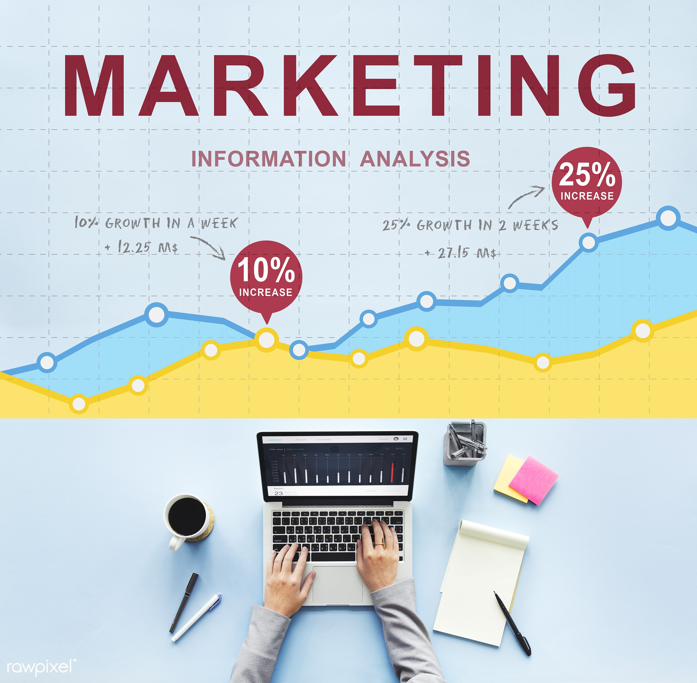 technology, marketing, digital marketing, growth, branding, brand, advertising, aerial view, analysis, business, business...