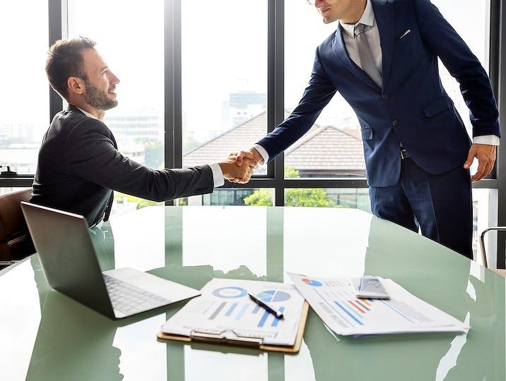 Handshake Teamwork Collaboration Colleagues Concept