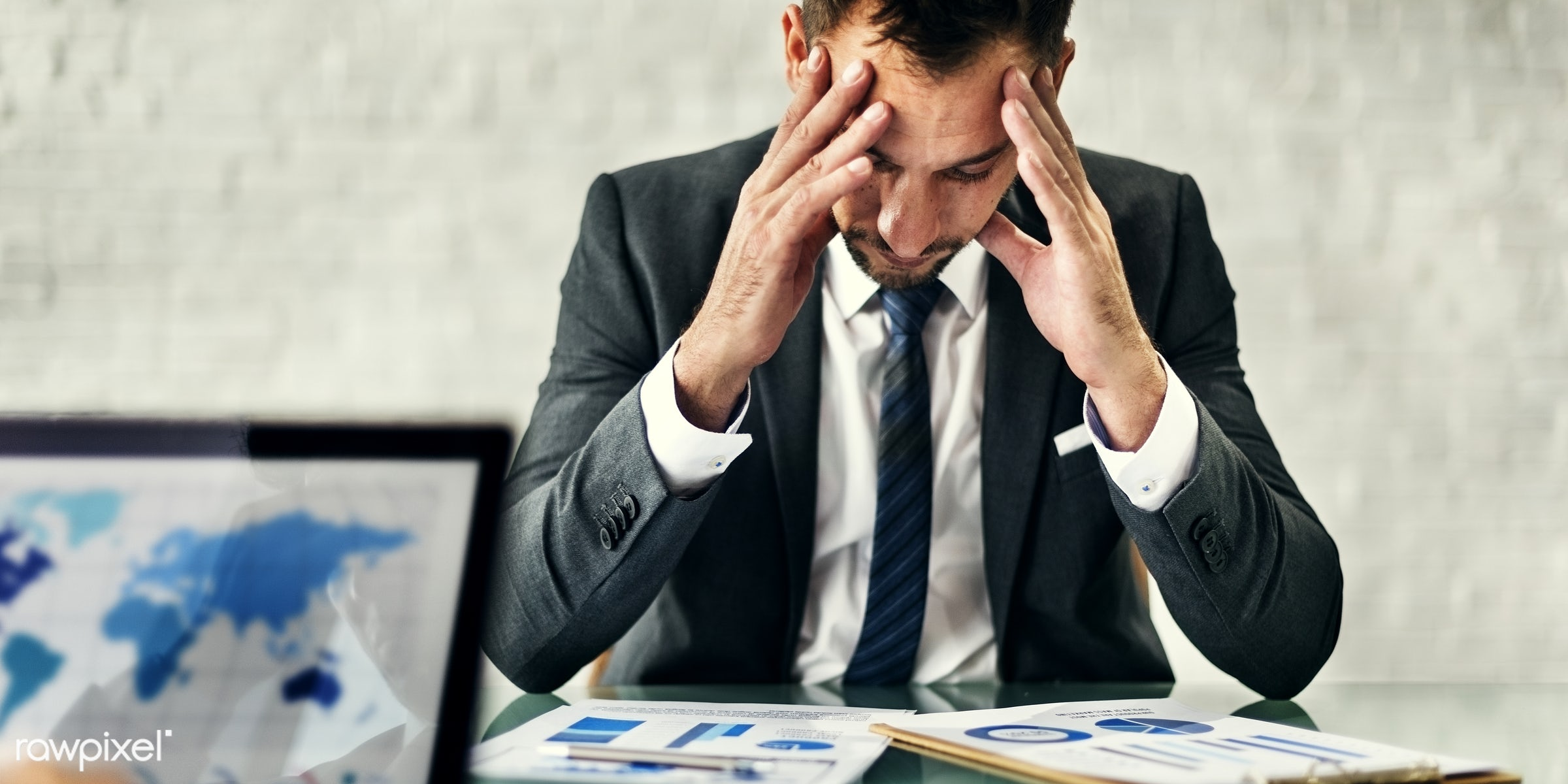 stress, thinking, computer, businessman, busy, plan, investment, leader, planning, meeting, entrepreneur, business chart,...