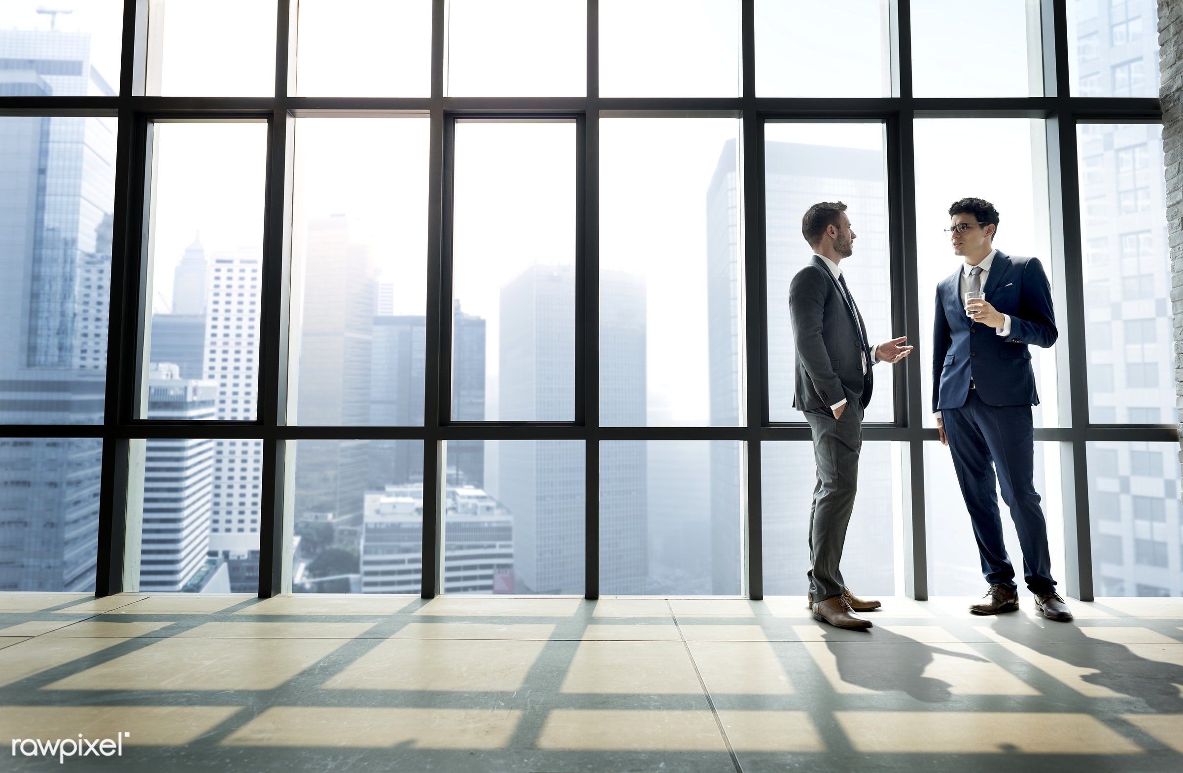 Businessman discussing after a meeting - meeting, investment, businessman, finance, marketing, business person, business,...