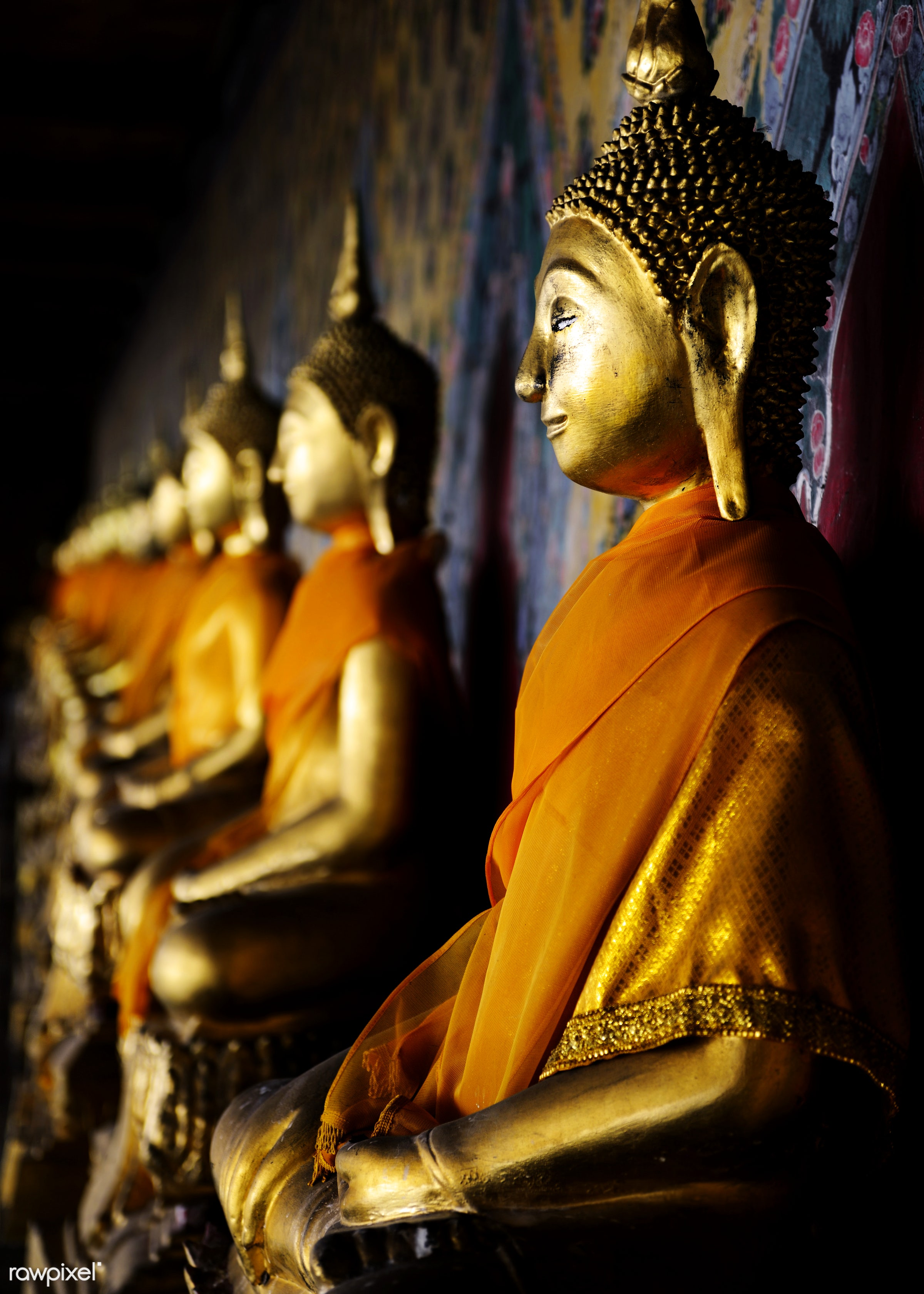 asia, asian, bangkok, belief, believe, bronze, buddha, buddhism, culture, famous place, gold, nobody, object, pray,...