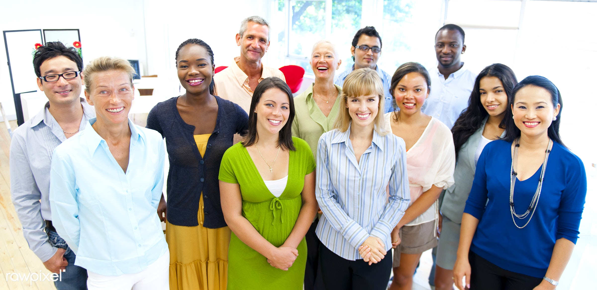 Group of diverse people are having a meeting - african american, african descent, asian, black, business, career, caucasian...
