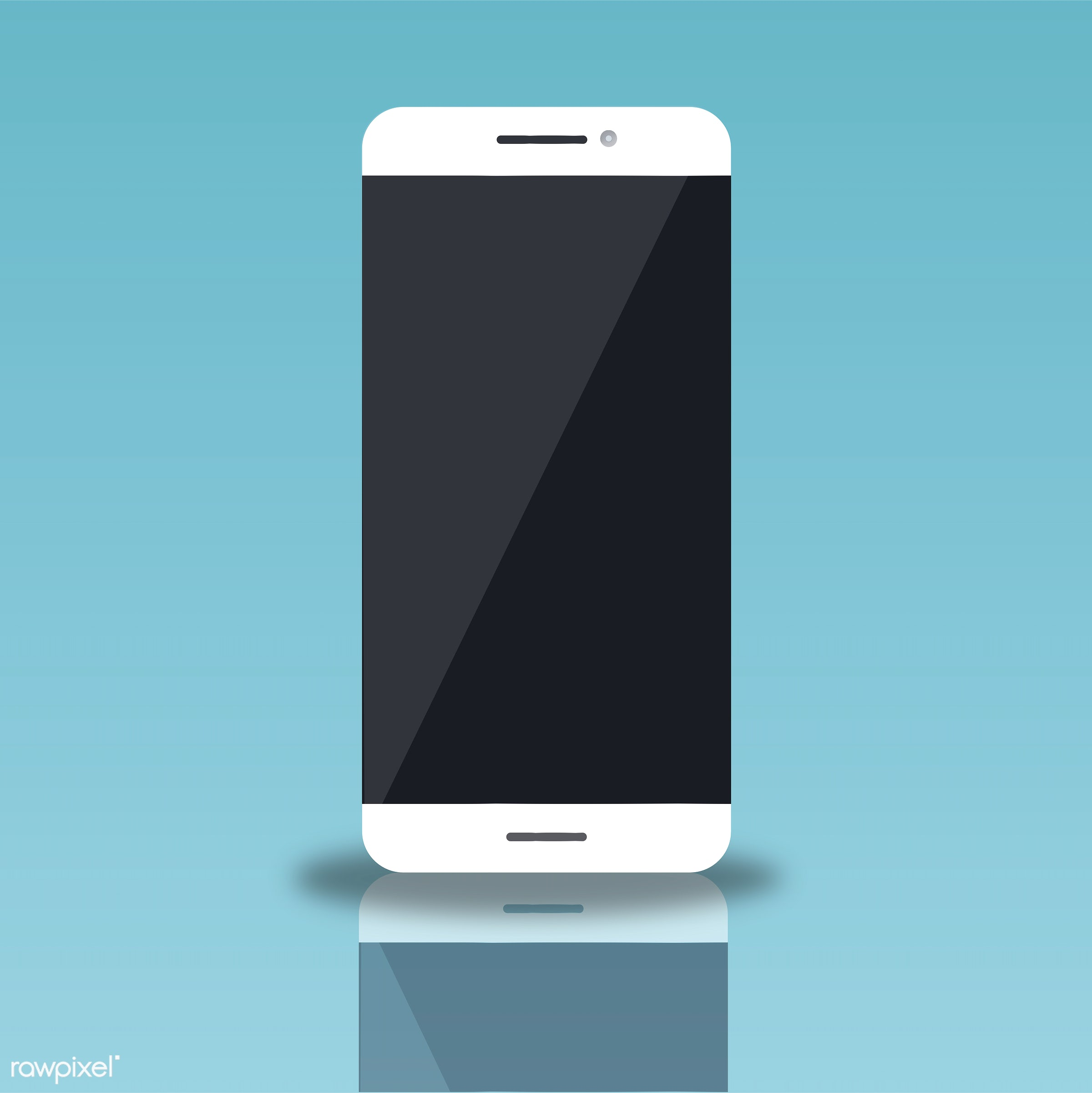 Illustration of a mobile phone - cellphone, cellular, connection, copy space, design space, device, digital, display,...