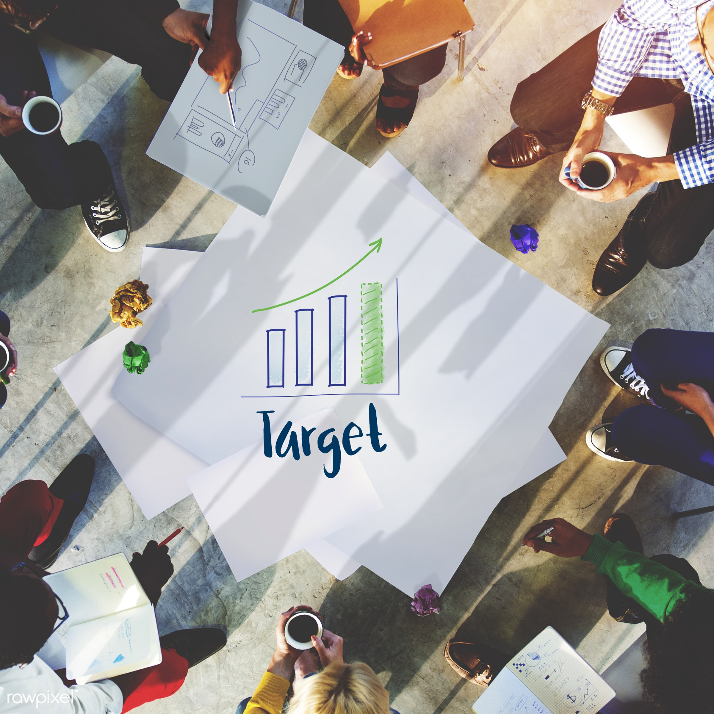 ^square, aerial view, analyse, analysis, brainstorming, business, casual, chart, colorful, communication, data. information...
