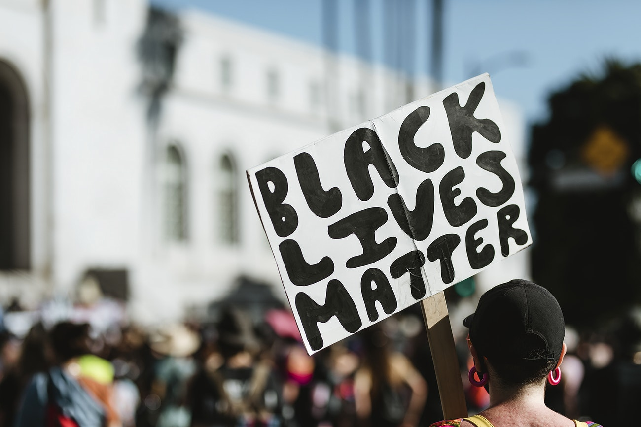 Black Lives Matter protest in downtown Los Angeles. 1 JUL, 2020, LOS ANGELES, USA