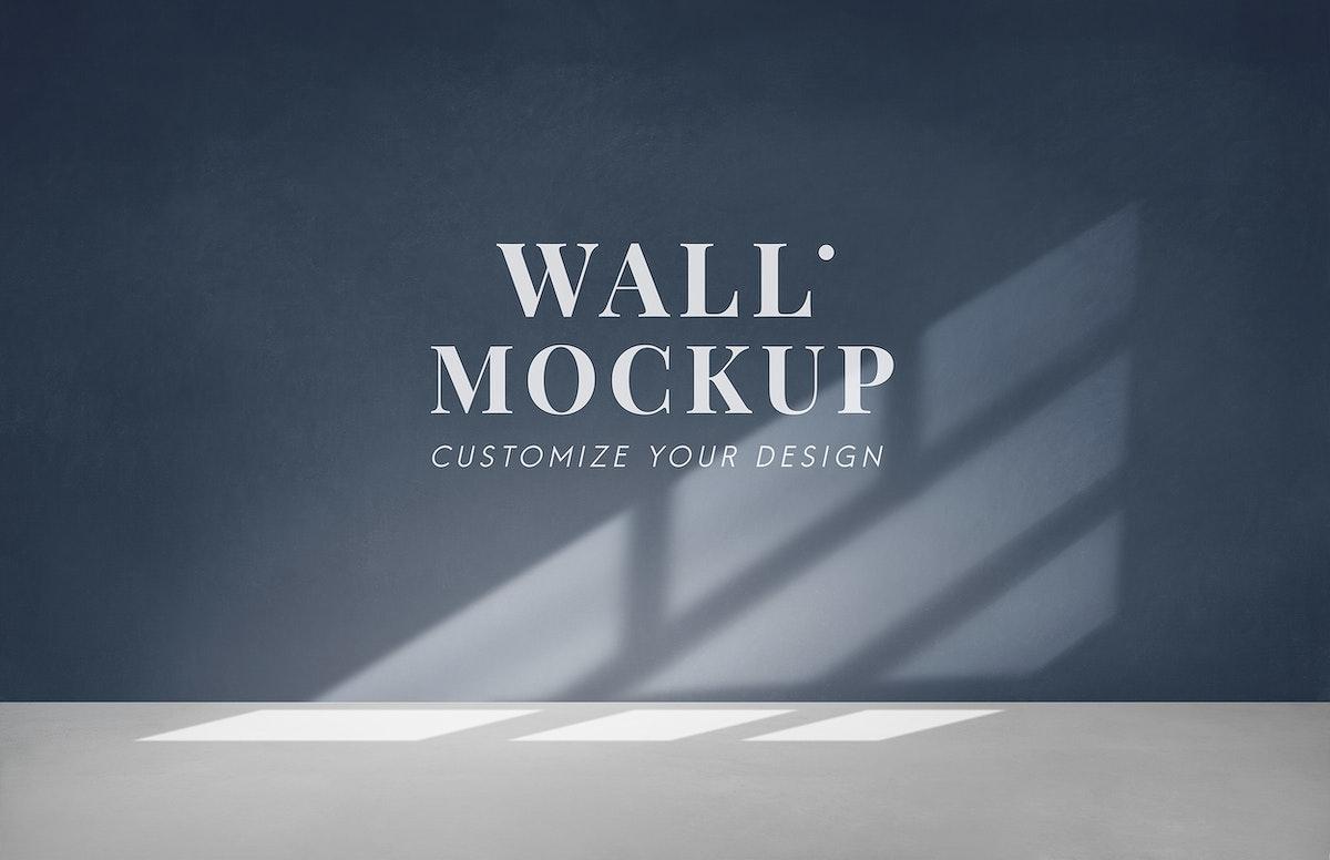 Empty room with a dark gray wall mockup