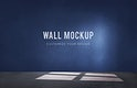Empty room with a blue wall mockup