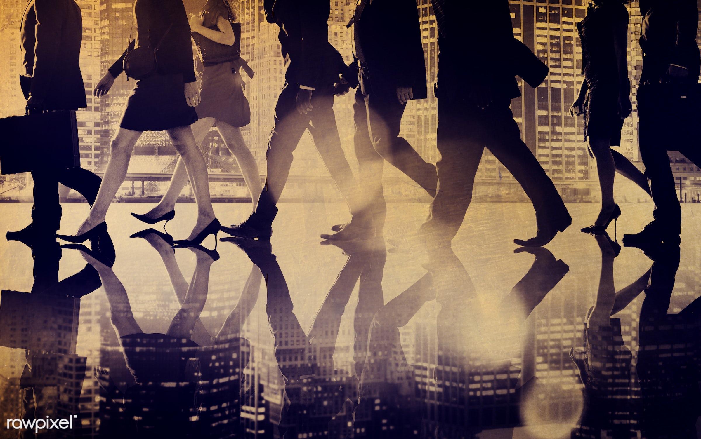 back lit, briefcase, building, business, business people, businessmen, businesswomen, city, cityscape, collaboration,...
