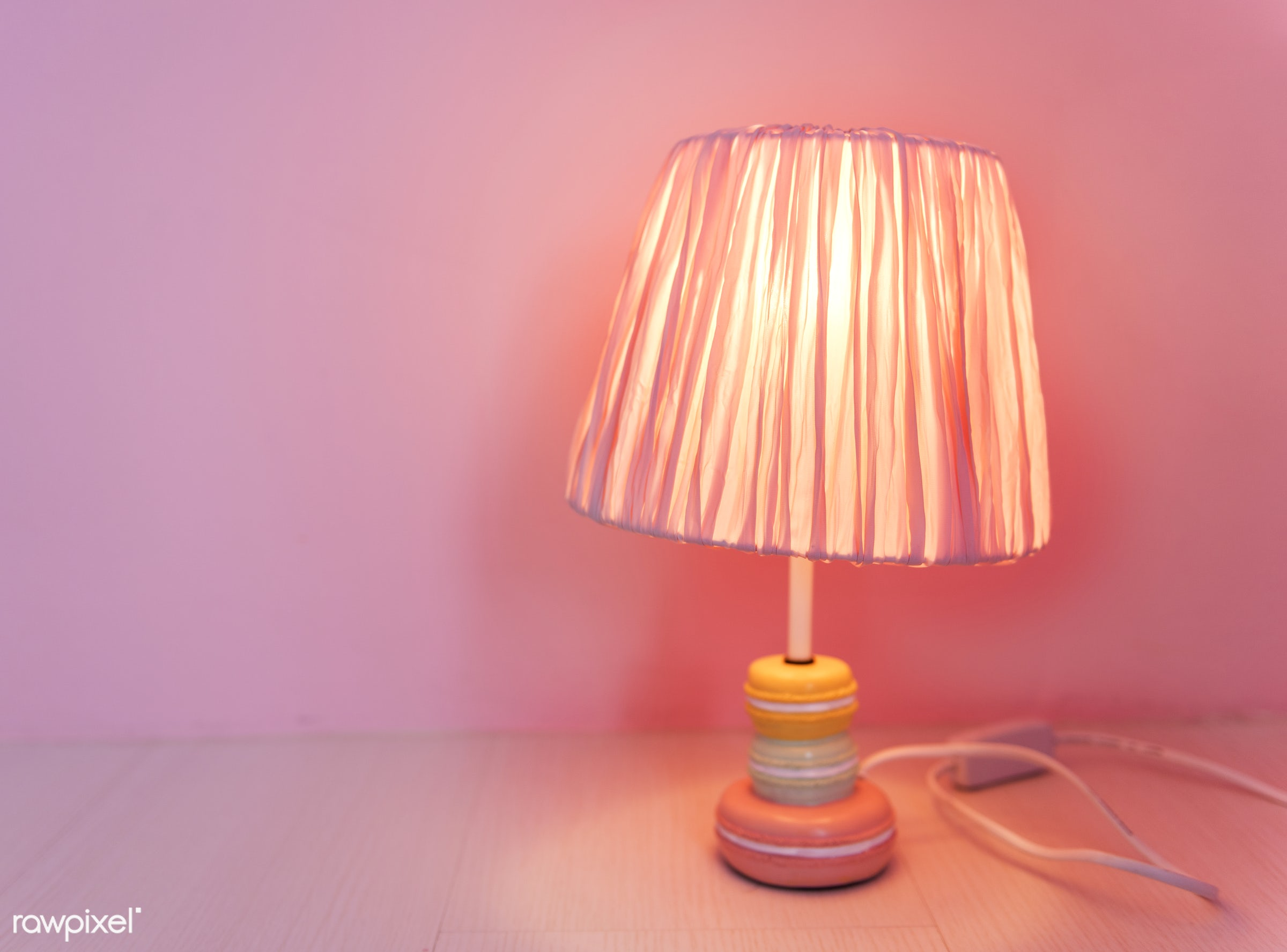 Feminine Style Lamp in a Pink Room - lamp, interior, pink, femininity, light, concept, decoration, design, home, lifestyle...