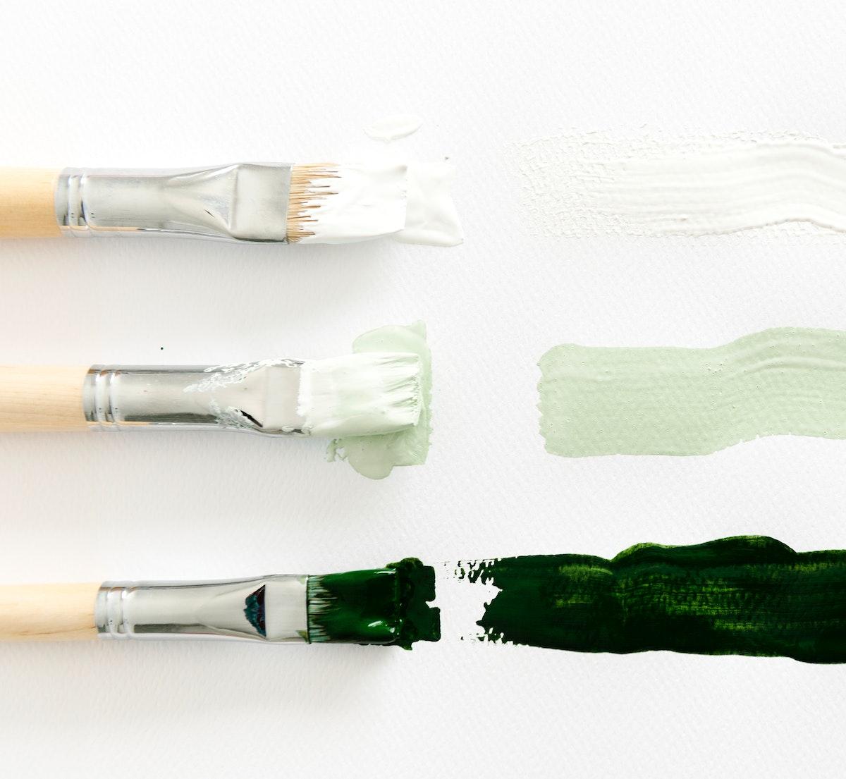 Paintbrush Art Tool on White Background