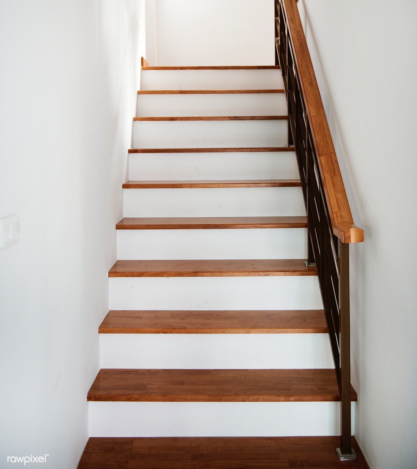 Staircase on white background