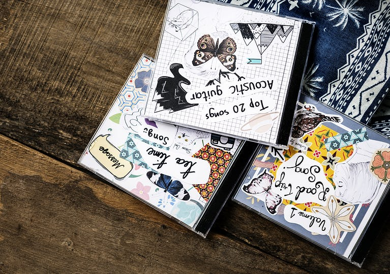 CD collection of different song albums