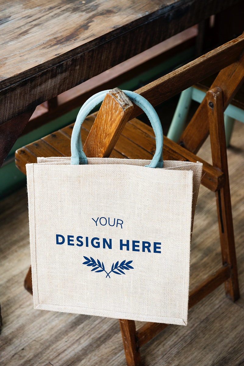 Design space on blank tote bag