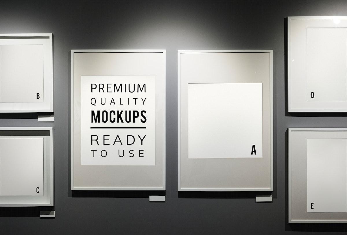 Picture frames mockup