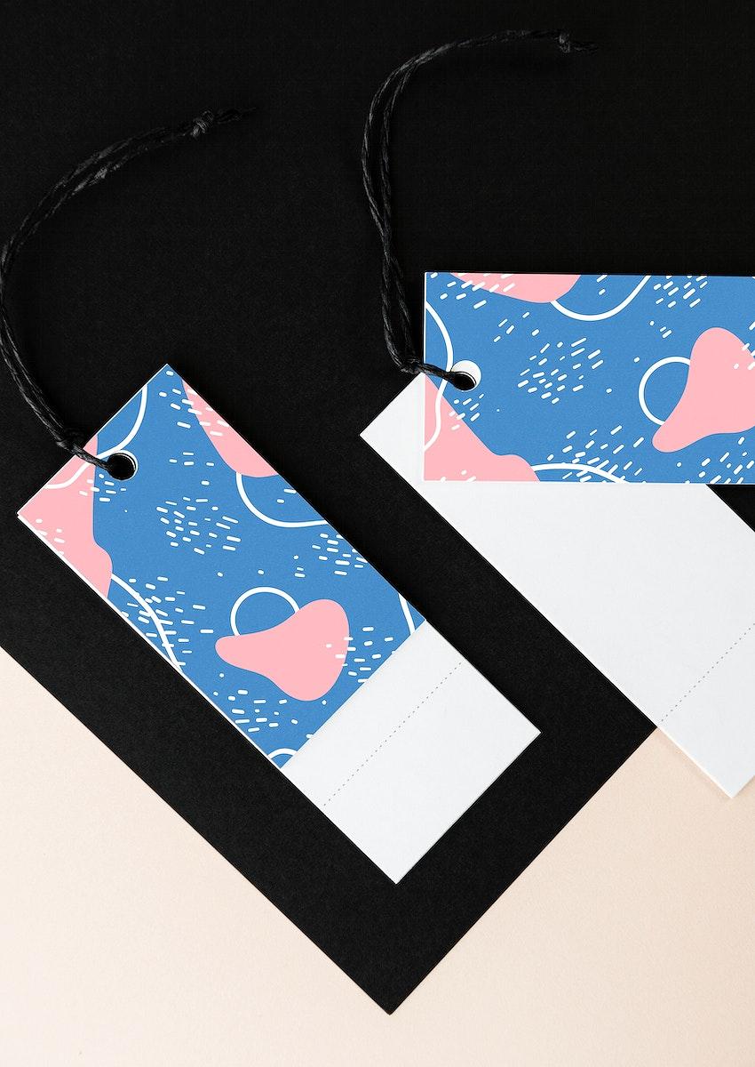 Colorful bookmark tags mockup design