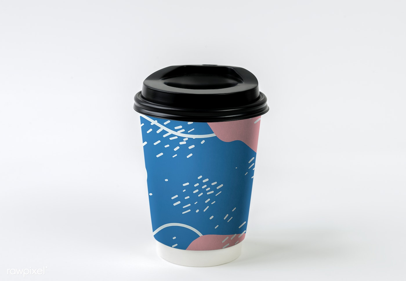 Colorful Takeaway Coffee Cup Mockup Design Royalty Free Psd