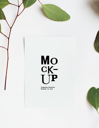 Mockup design space paper card
