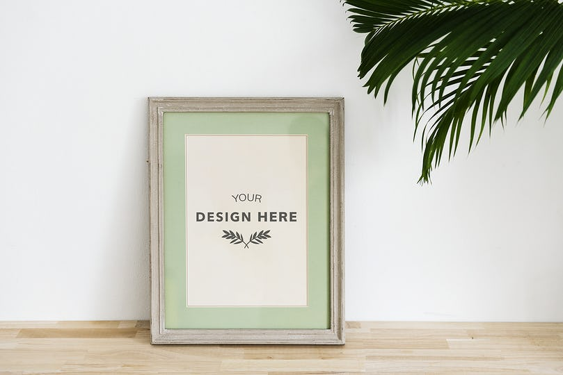 Mockup design space photo frame