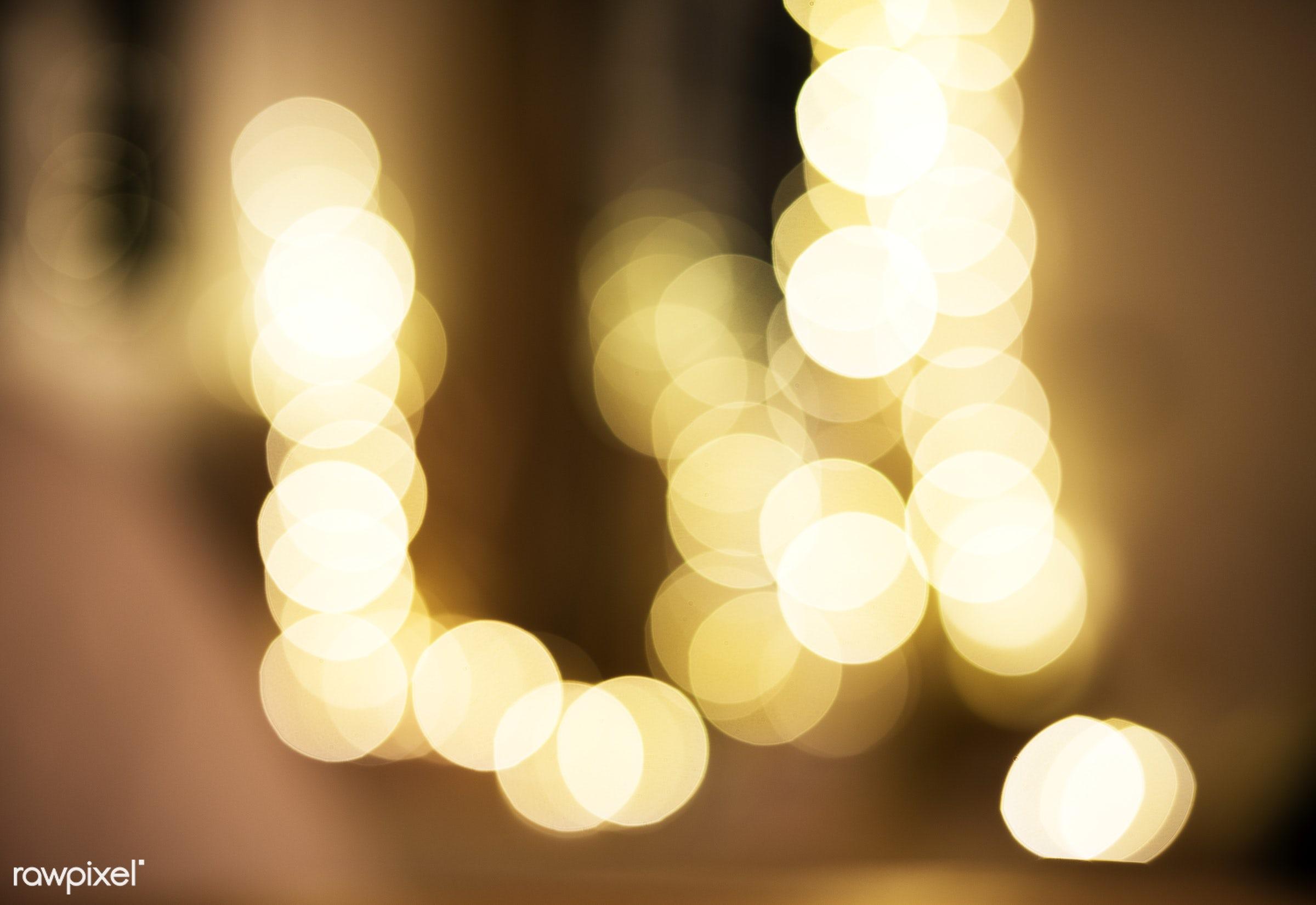 Blurred light at night - 2018, blurred, bokeh, cc0, celebrate, celebration, creative common 0, creative commons 0, decorate...
