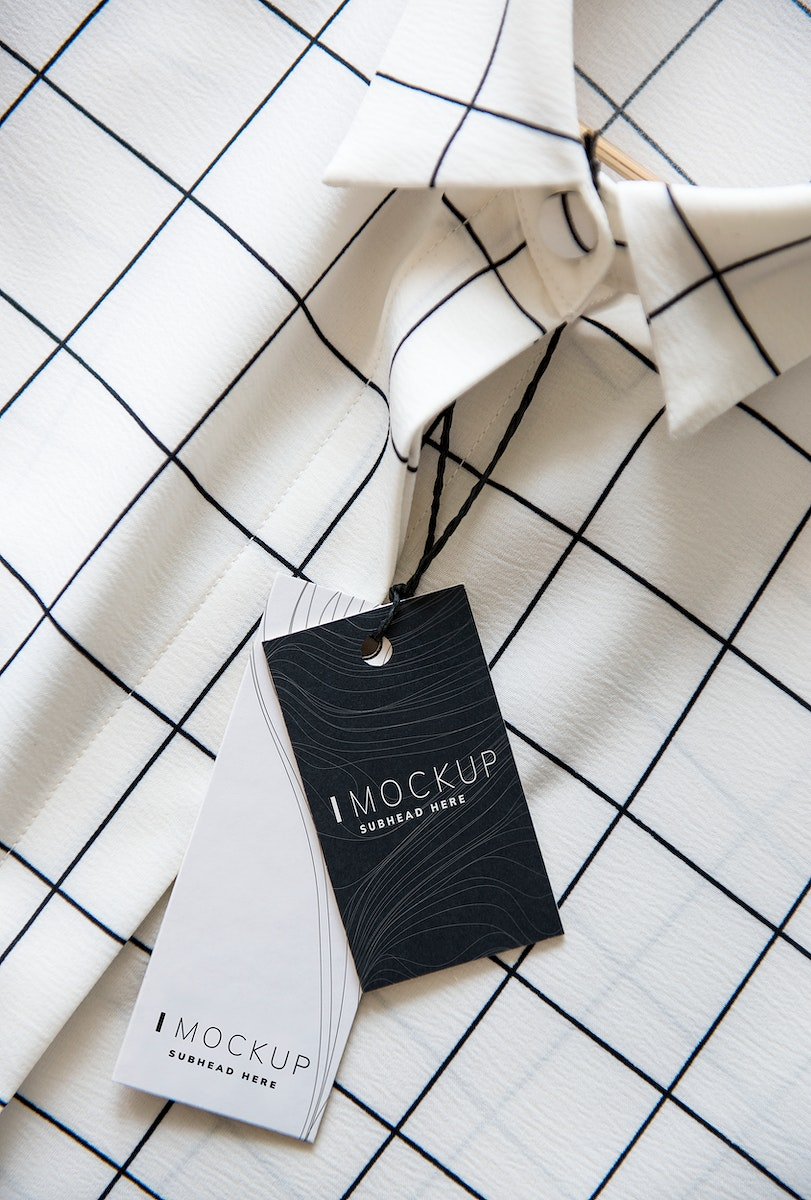 Shirt with a price tag design mockup