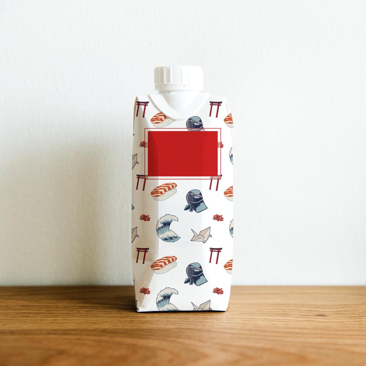 Paper bottle mockup