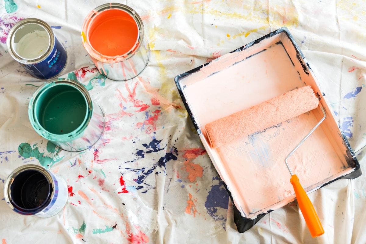 Paint color house renovation concept