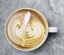 Aerial view of latte art