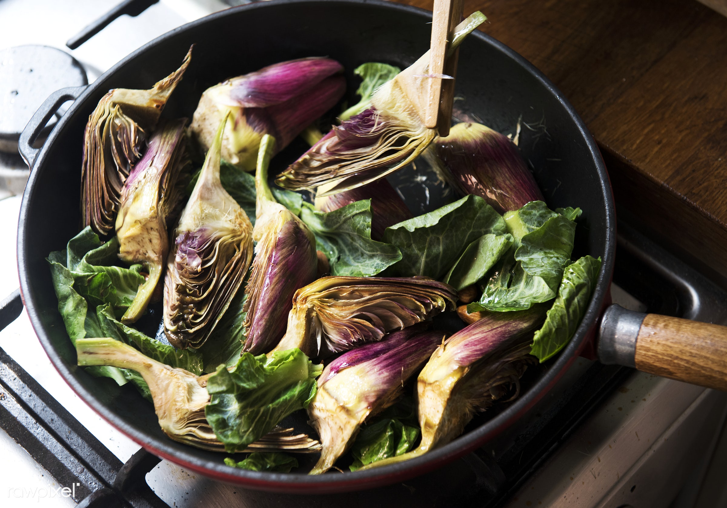 Heart of artichoke food photgraphy recipe idea - artichoke, cook, cooking, cuisine, delicious, dining, dinner, eating, food...