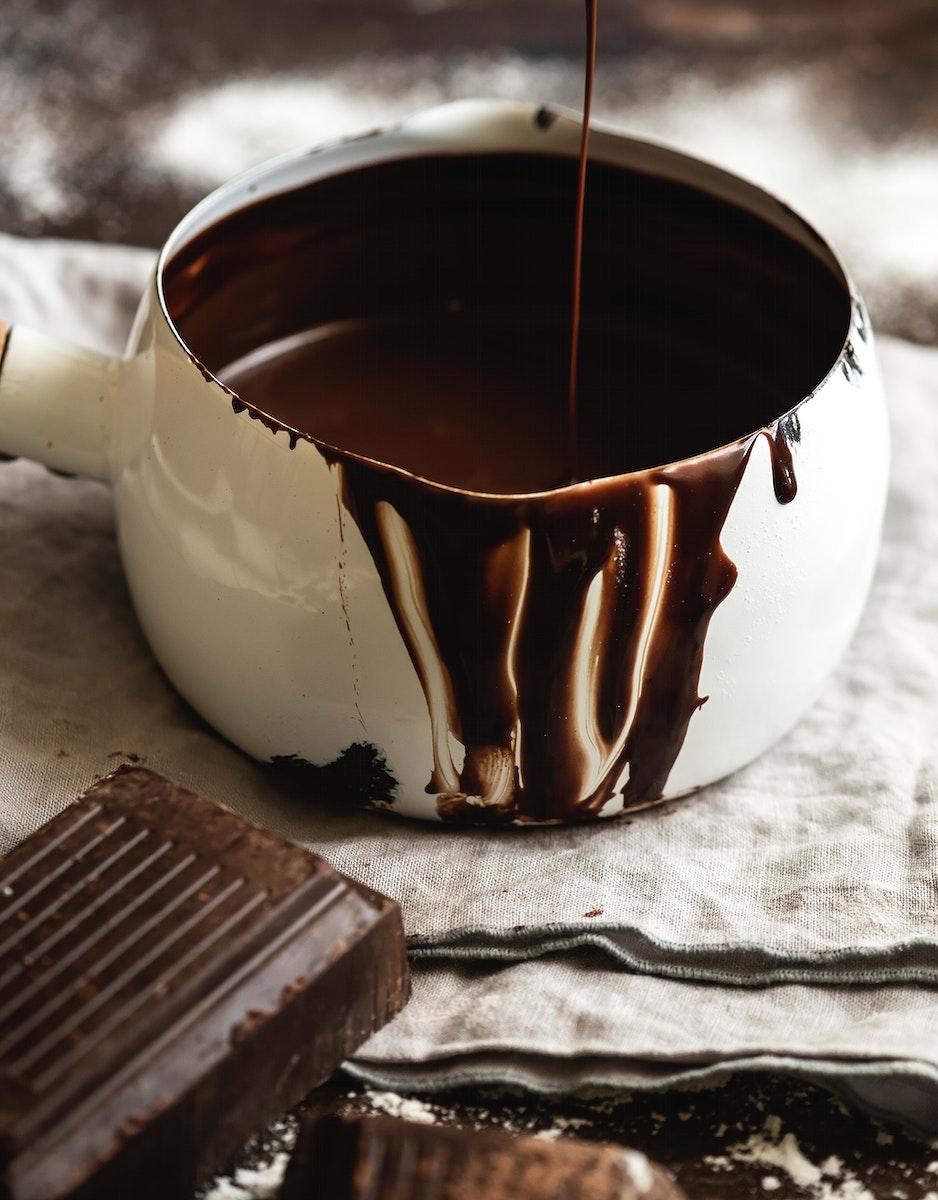 Ganache in a pot food photography recipe idea