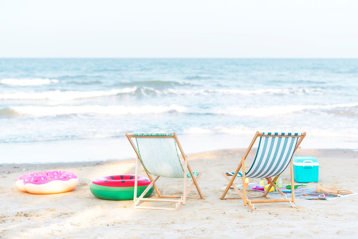 Beautiful beach in the summertime