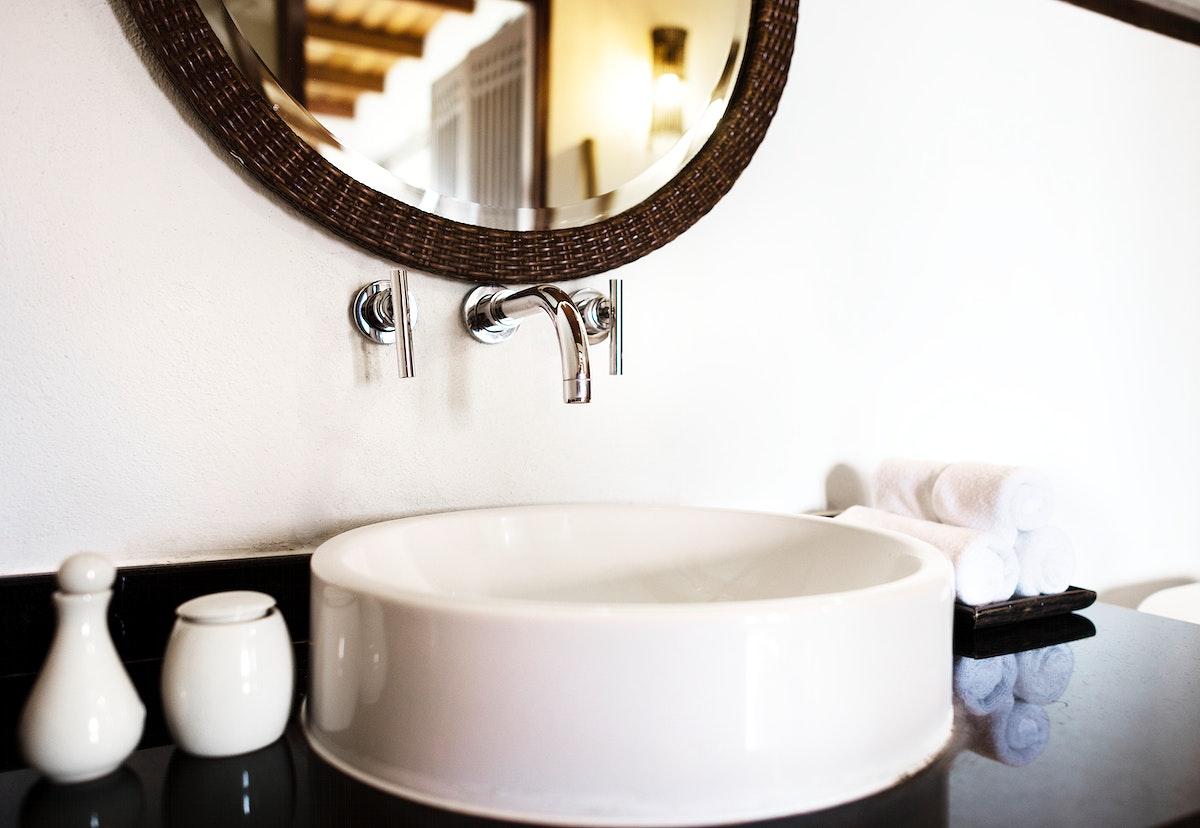 Interiors of a luxury bathroom