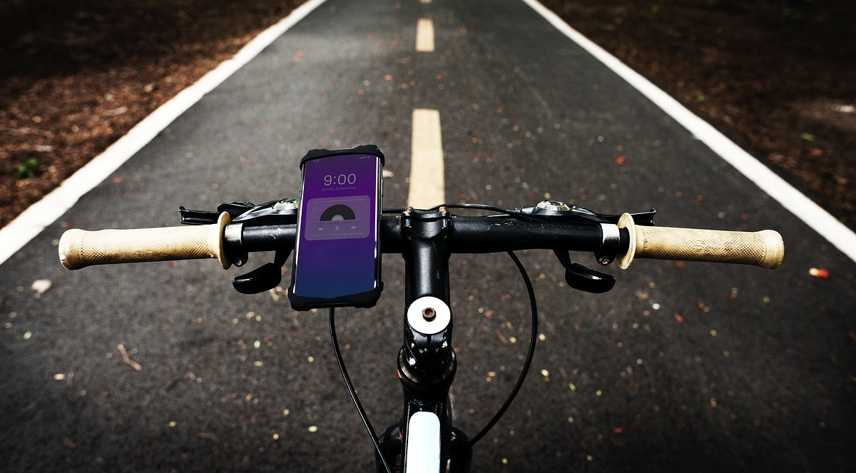 Music application device on a bike handle grips