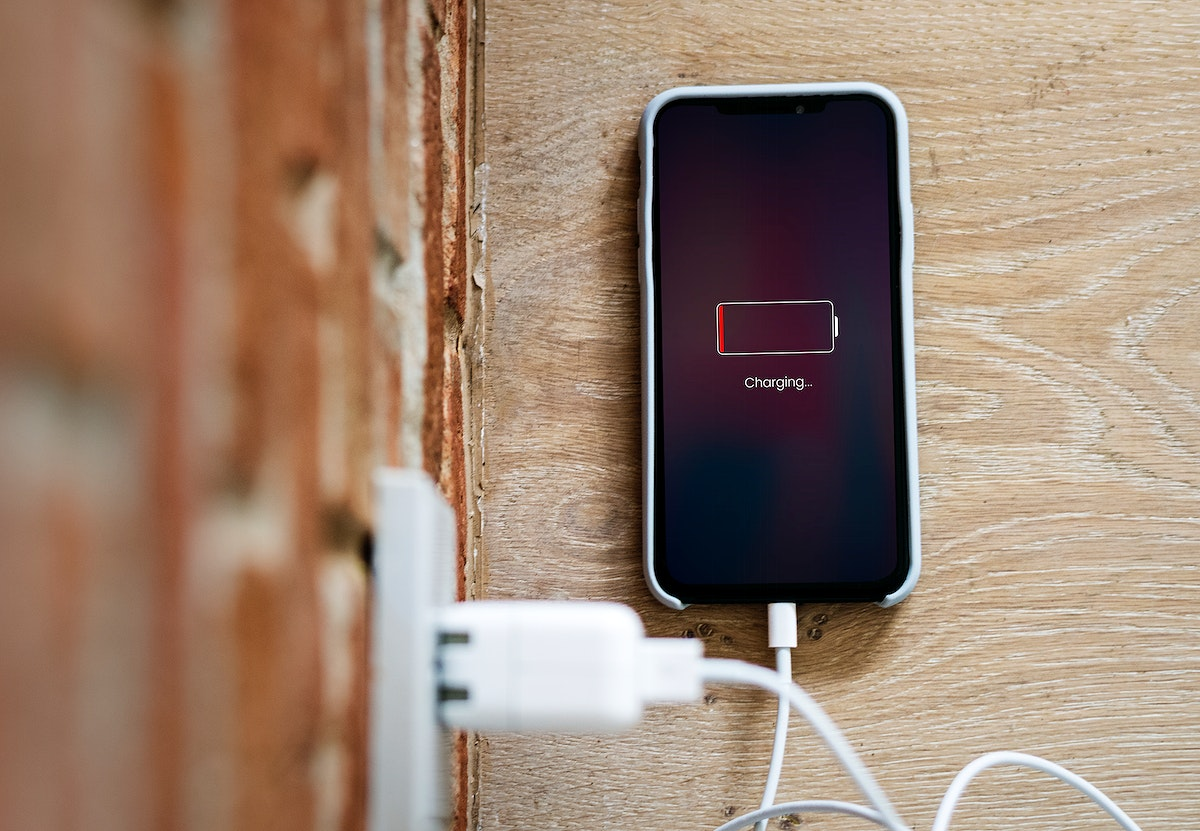 Mobile phone out of battery