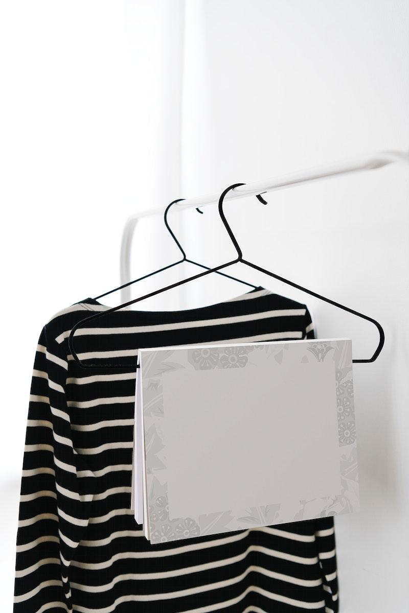 Notebook mockup on a hanger