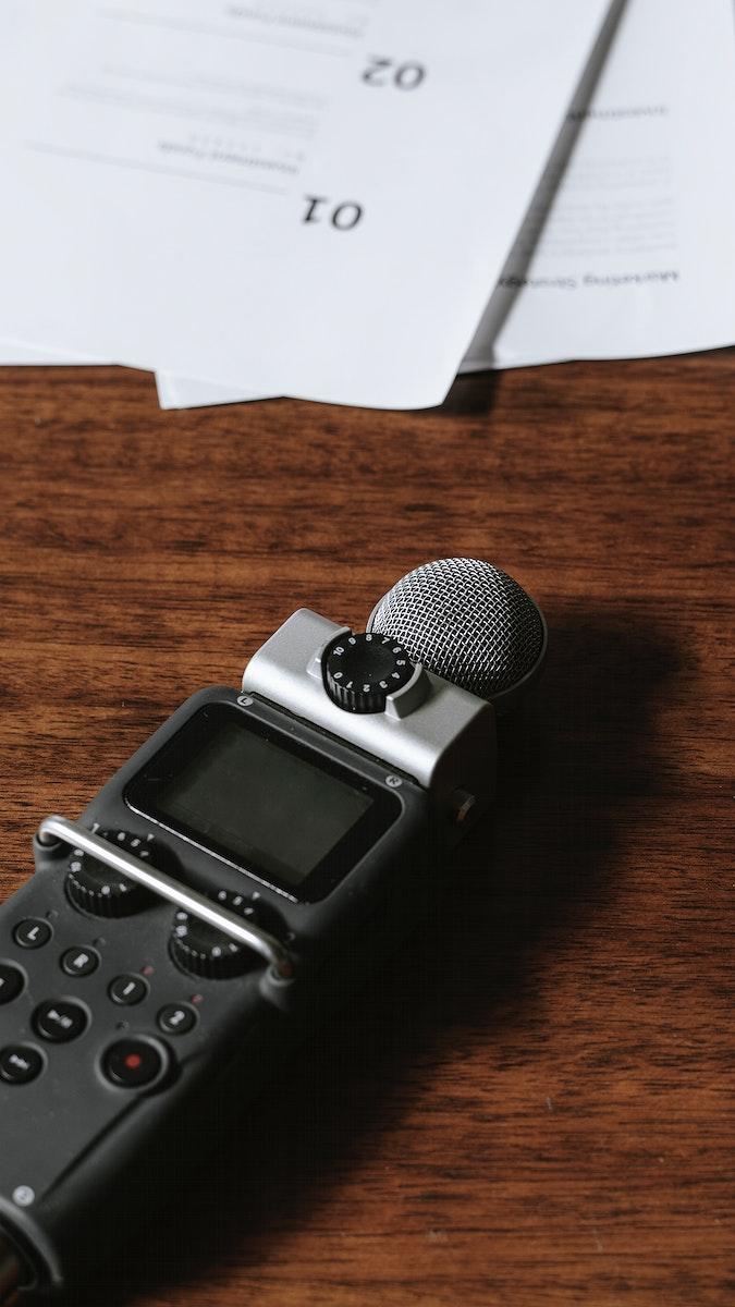 Portable sound recorder mobile phone wallpaper