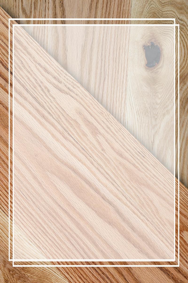 Transparent frame mockup on a wooden texture