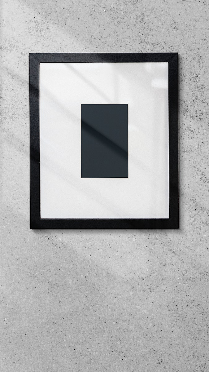 Photo frame on a wall mobile phone wallpaper