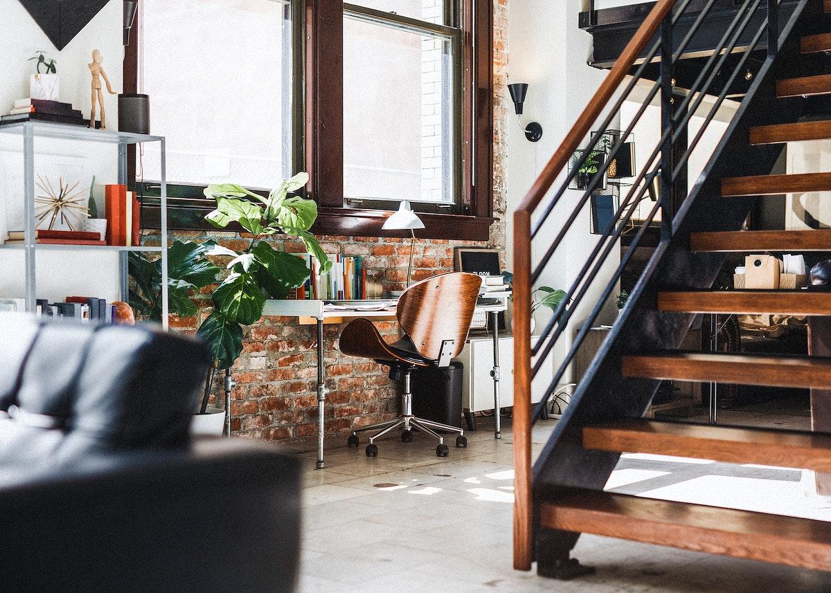 Vintage wooden home interior design